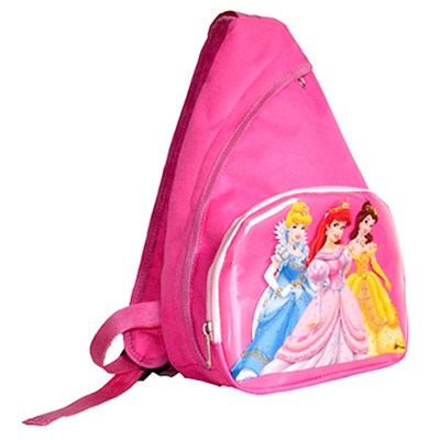 Child Sling Backpack Scool Bag With Print PVC Panel