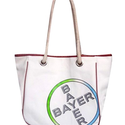 100% Cotton Canvas Tote With Cotton Rope Handles