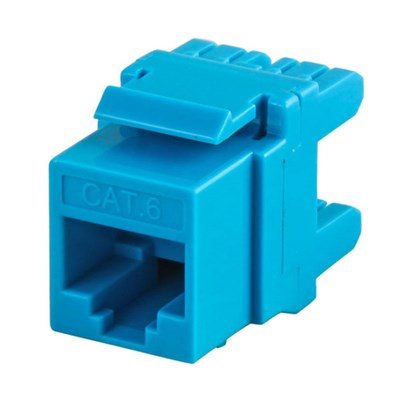 UTP Cat.6 Keystone Jack 180degree Blue Color