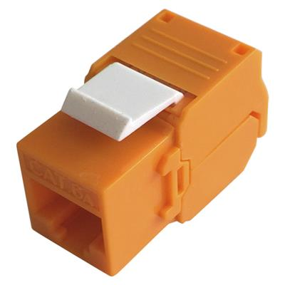UTP Cat.6A Keystone Jack 180 Degree Orange Color