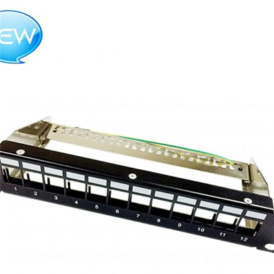 FTP Blank Patch Panel 12 Port(Suit To Load Cat.5e/Cat.6/Cat.6A