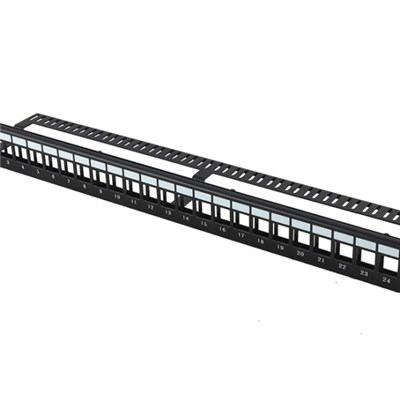 UTP Blank Patch Panel 24 Port With Back Bar