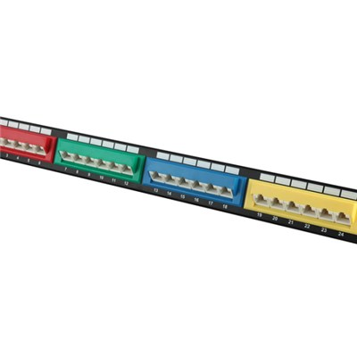 UTP Patch Panel 24Port 45degree Colored