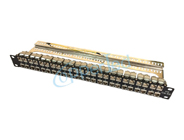 FTP 1U Cat.6A Modular Patch Panel 48Port With Back Bar