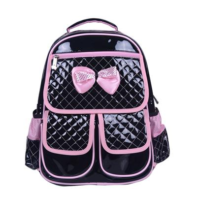 Pu Bakcpack, Shining Pu School Bag, Bow Tie Backpack,CP15020