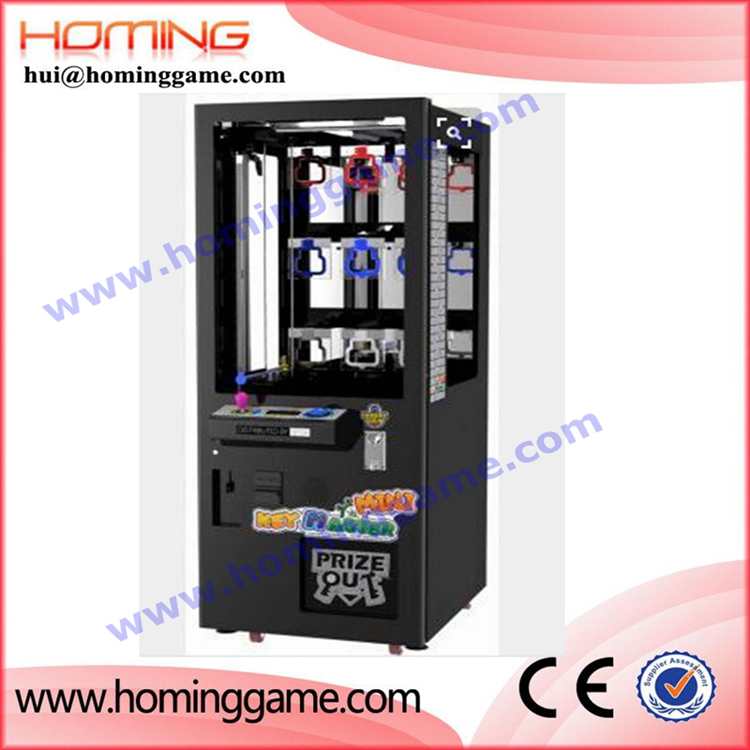 Coin operated prize vending toys candy crane claw machine / key master kids crane games classical arcade game