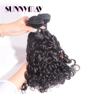 One Piece Sunnymay 100% Unprocessed Brazilian Virgin Hair Weave Spanish Curly Hair Bundle Natural Black Color Hair Extension