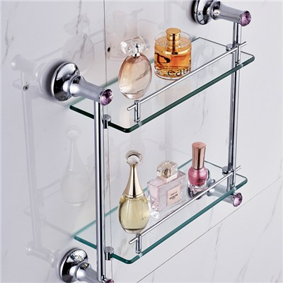 Vanity Glass Shelf For Cosmetics