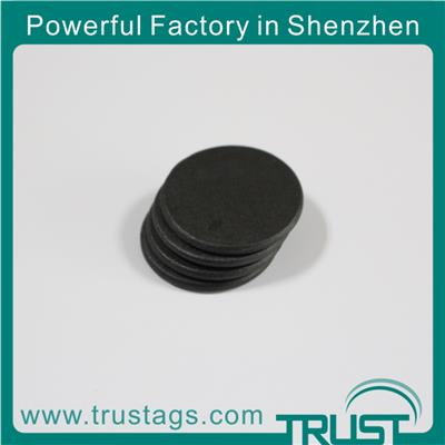 13.56mhz/washable Nfc Button/ Pps Black Laundry Tag