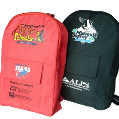 Polyester School Backpack With Printing Pattern