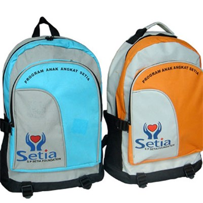 Polyester School Backpack With Custom Logo