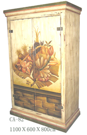 Hand-painted antique furniture