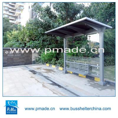 street side bus shelter stainless steel