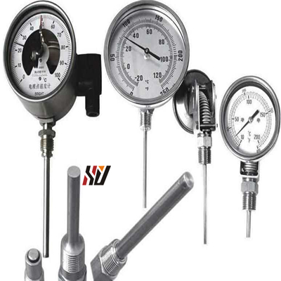 Bimetal Thermometer Model 55, Stainless Steel Version