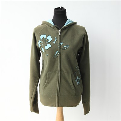 Womens Zip Up Hoodie With Embroidery