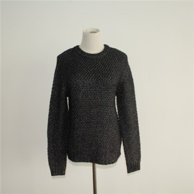 Casual Crew Neck Knitted Sweater Design For Women