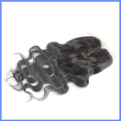 Wholesale Natural Color Middle Parting Lace Closure Silk Base Closure Body Wave Cheap Lace Closure