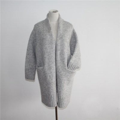 Ladies Chunky Knit Cardigan Overcoat