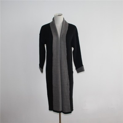 Women Double Faced Overcoat Long Cardigan Sweater