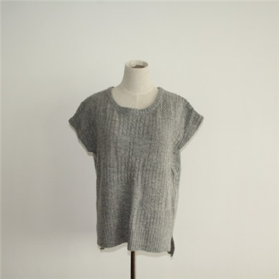 Women's Sleeveless Cable Knitted Sweater
