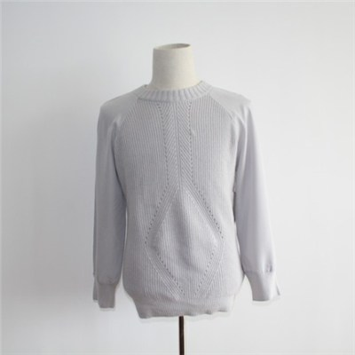 Hot Sale Fabric Spliced Sleeves Pullover Sweater
