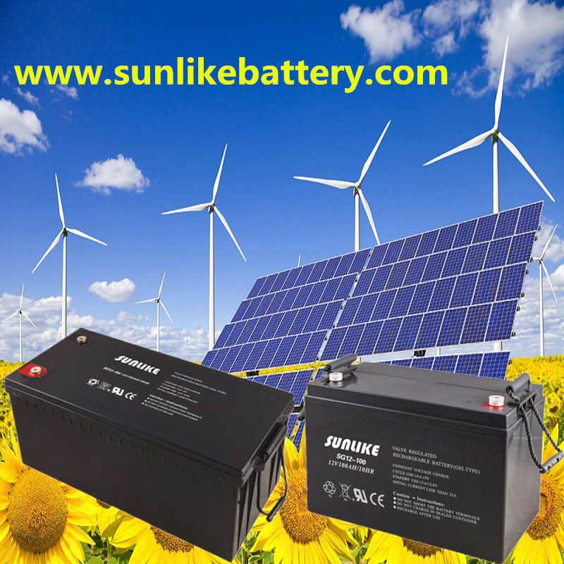Solar Battery, Deep Cycle AGM/Gel Battery, Lead Acid Battery