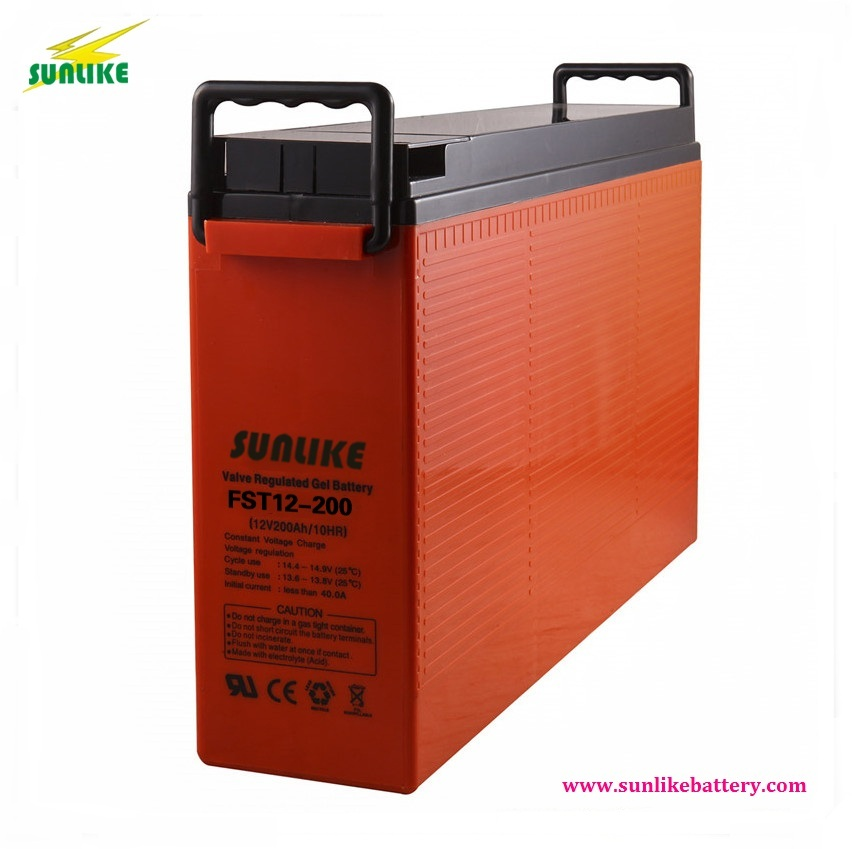 Communication/Telecom/Front Terminal Batteries 12V200ah for Telecom