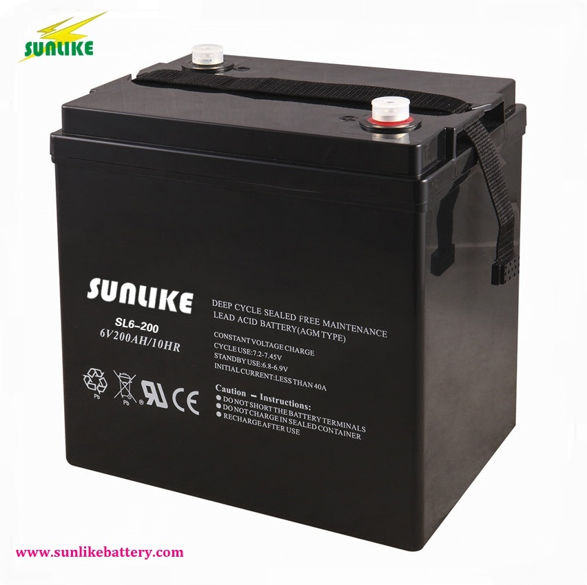 6V200ah AGM VRLA Battery Mf Battery for UPS & Solar