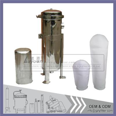 Single Bag Filter Housing With Thread