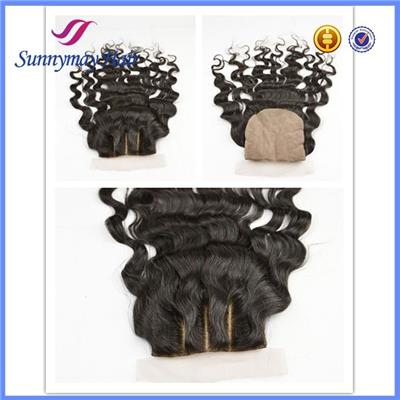 Sunnymay 100% Brazilian Virgin Hair 3 Part Silk Base Lace Closure