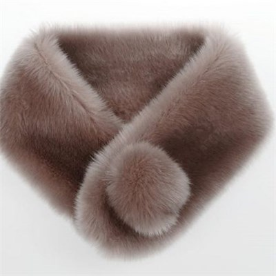 Fashion Faux Fur solid color lady knitted snood manufacturers
