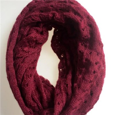 Latest design Acrylic solid color lady pointell knitted scarf manufacturers