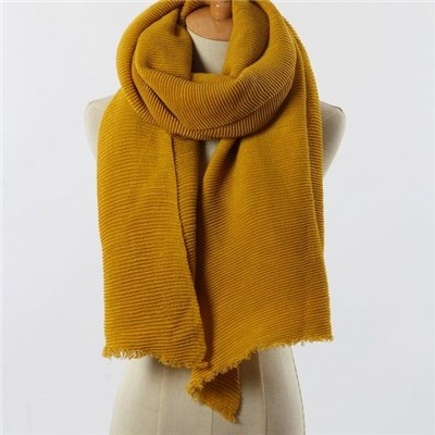 Latest design Acrylic solid color woven lady scarf manufacturers