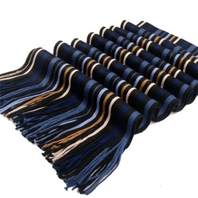 Fashion Acrylic mix color wrap knitted men scarf manufacturers China