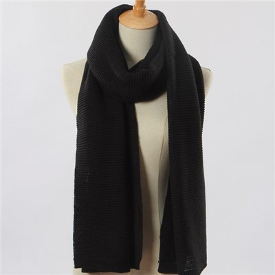 Acrylic solid color links-links knitted lady scarf manufacturers China