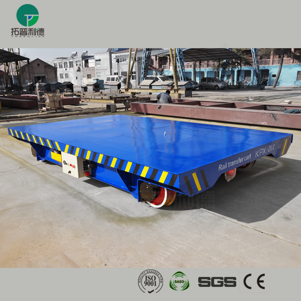 150t heavy duty factory apply motorized car transport bogie plant moving