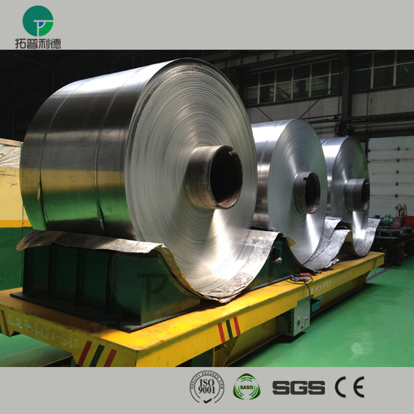 Thailand aluminium steel coil mill conducting rail powered transport carriage