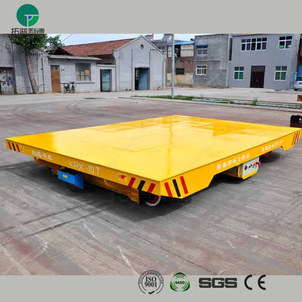 Saudi Arabia SASO certificated battery powered electric mold transfer cart on rails