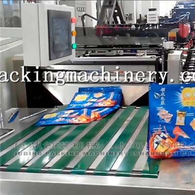 Quad Flat Bottom Pouch 2lanes Bag Making Machine
