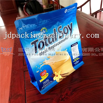 Box Pouch With Zipper 2lanes Bag Making Machine