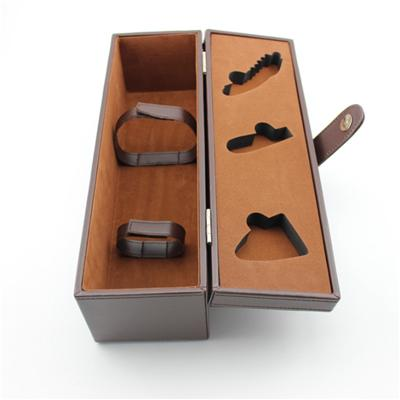 Single Bottle Wine Box PU Leather Cover