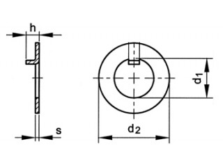 Internal Tongue Tab Washer