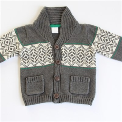 Jacquard Cardigan Sweater Design For Boys
