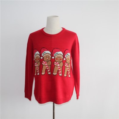Ugly Christmas Sweater With Four Gingerbread Men
