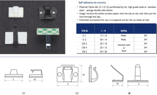 cable ties, cable clips