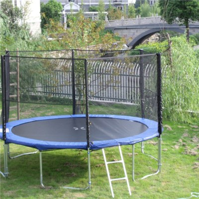 14FT Family Gardon Amuement Round Spring Trampoline With Net Outside (6 Leg - 6 Pole)