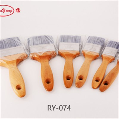 Chemical Filament Wooden Handle Flat Paint Brush