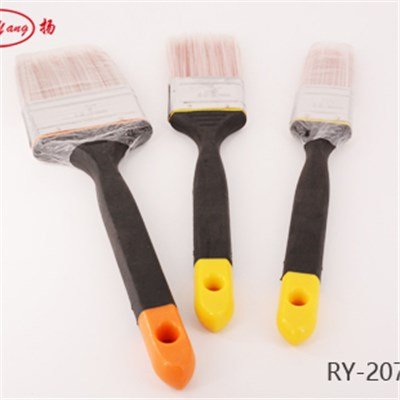 Tapered Filament Plastic Handle Flat Paint Brush