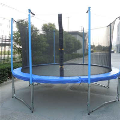 12FT Family Gardon Amuement Round Spring Trampoline With Net Inside (4 Leg - 8 Pole)
