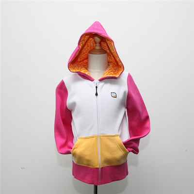 Children Zip Hood With Embroidery